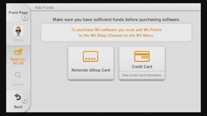 Nintendo eShop Credit card block japan